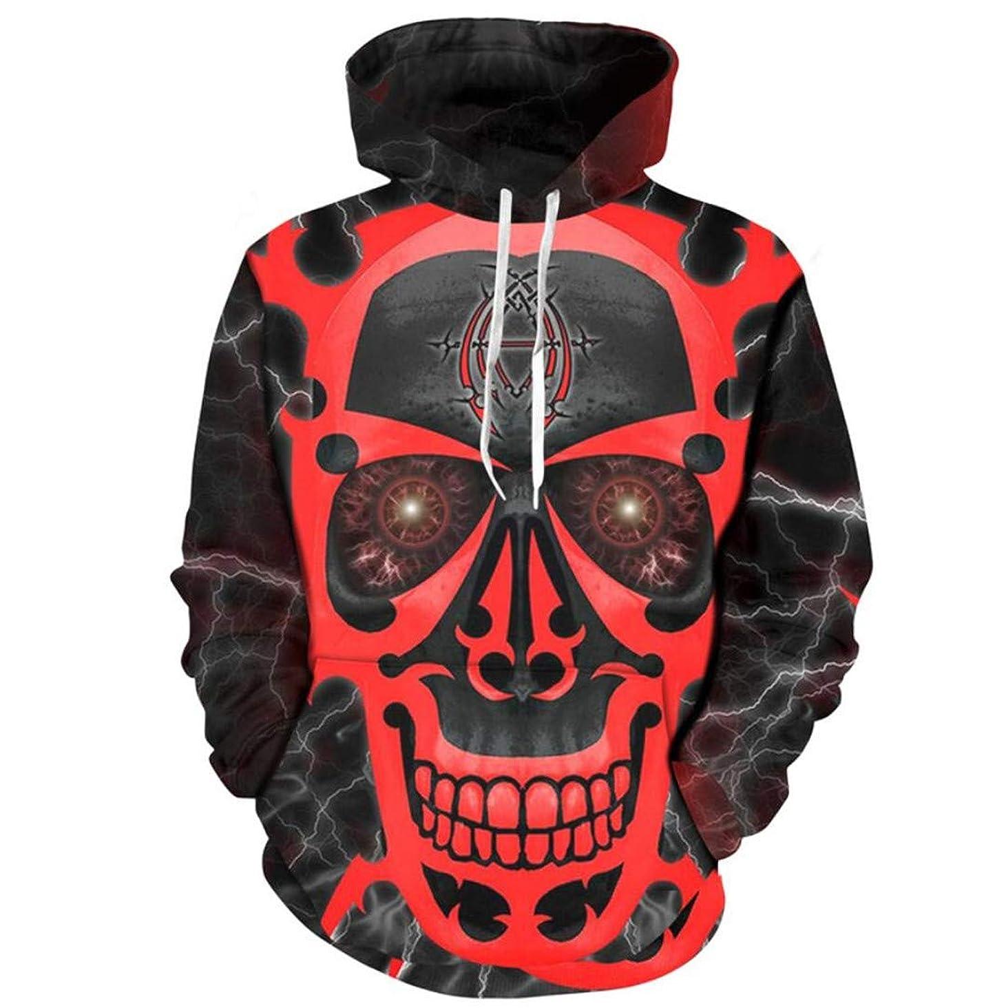 Tonsanissop 3D Men Women Print Flame Evil Sweatshirts Pullovers Skull Streetwear