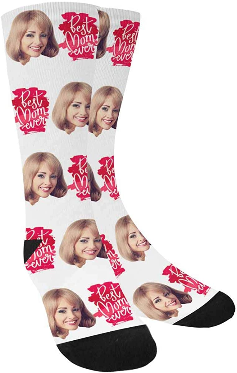 Custom Socks with Faces Gift for High quality new Ever Best Mother Mom Personaliz Classic