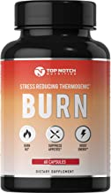 Top Notch Nutrition 4 in 1 Thermogenic Fat Burning Weight Loss Pills for Women and Men Energy Boost Appetite Suppressant Diet Pills Boost Metabolism Burns More Calories & Manage Stress