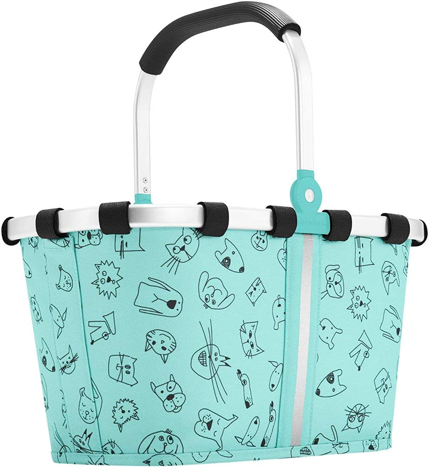 Reisenthel Carrybag XS Kids, Extra Small Collapsible Basket, Cats and Dogs Mint