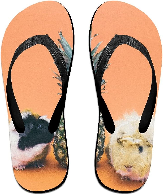 Pineapple Guinea Pig Unisex Fashion Beach Slipper Summer Flip Flop