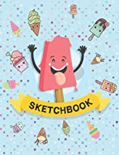 Sketchbook: For Kids. Ice Cream.  (110 blank pages, 8.5''x11'' size) for Drawing, Graffiti, Manga or Sketching, Doodle Pad Gift for Boys Girls Teens Kids School