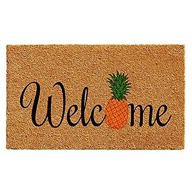 Calloway Mills 102301729 Pineapple Fun Doormat, 17  x 29 , Multicolor