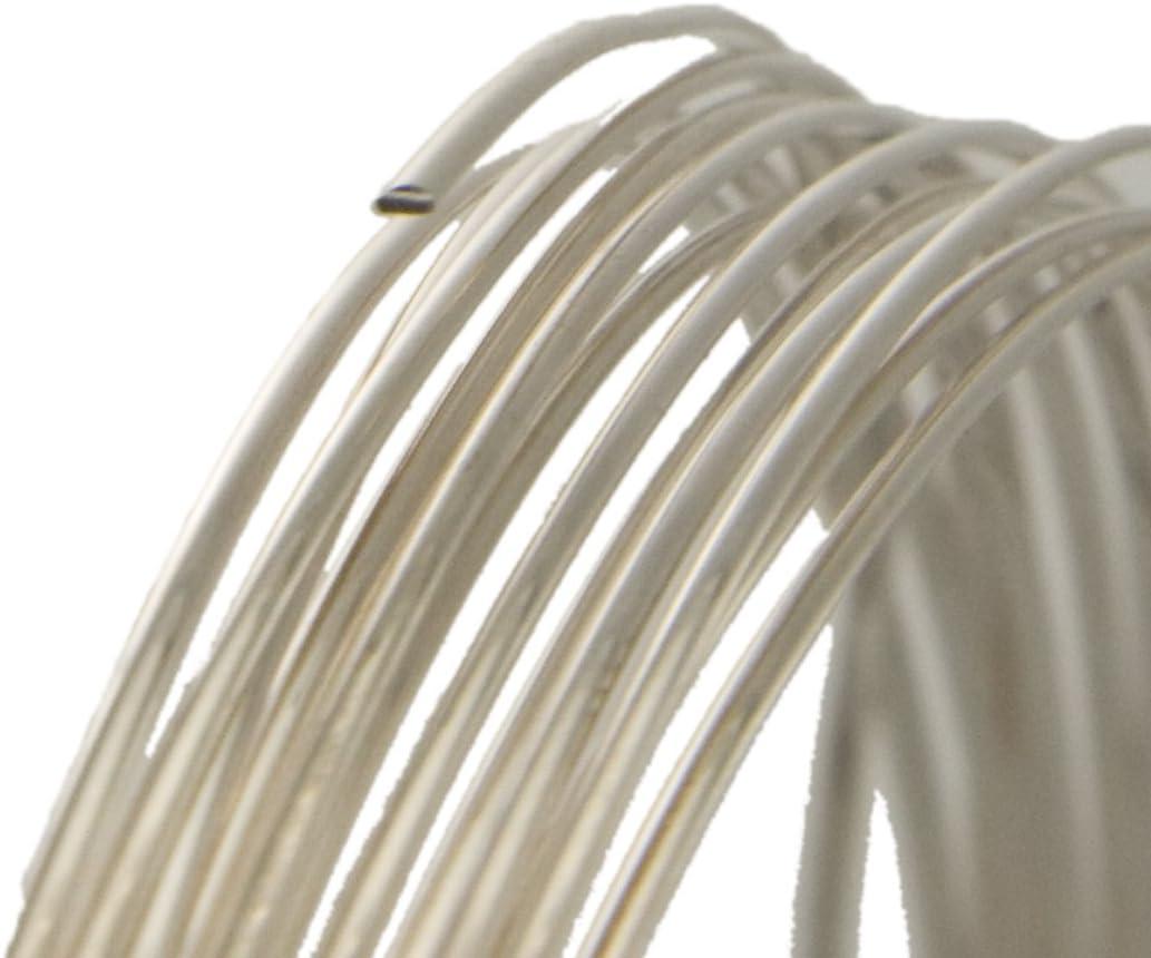 Half Hard Wire Solid Silver Wire Argentium Silver Wire Half Round Wire 20 ga .935 Fine Silver Wire 20 Gauge Jewelry and Craft Wire