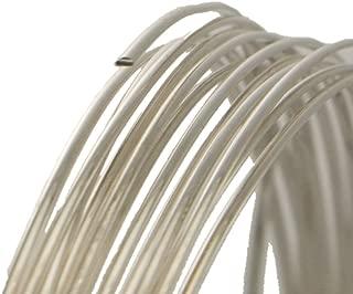 24 Gauge Half Round Half Hard .925 Sterling Silver Wire - 25FT