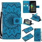 Qiaogle Téléphone Coque - PU Cuir Rabat Wallet Housse Case pour Huawei G Play Mini / (Honor 4C)...