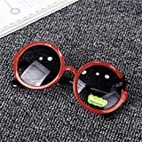 Jbwlkj Bebé Niños Niñas Niños Gafas de Sol Gafas de Sol Redondas Vintage...