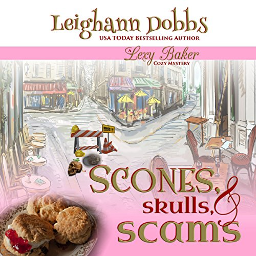 Scones, Skulls, & Scams audiobook cover art