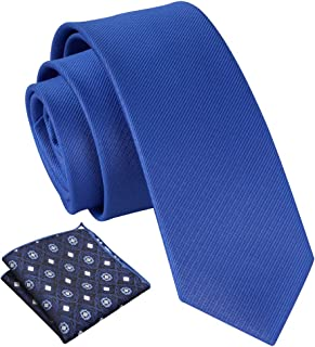 ggudd Hombres Rayas Corbatas Negocio Ligadura and Bolsillo Conjunto Cuadrado Sólido Color llano