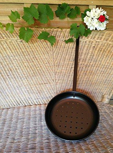 Antikas - Röstpfanne für Edelkastanien, Esskastanien auf Feuer - Maronen Kastanien rösten
