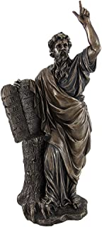 Veronese Design Bronzed Moses with Ten Commandments Tablets Statue