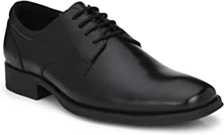 Delize Black/Tan Genuine Leather Darby Shoes for Men's