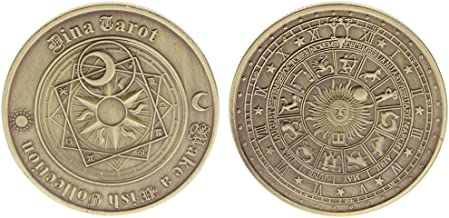 liumiKK Commemorative Coin Tarot Poker Collection Collectible Souvenir Bronze Plated Alloy Coins Art Crafts Gifts
