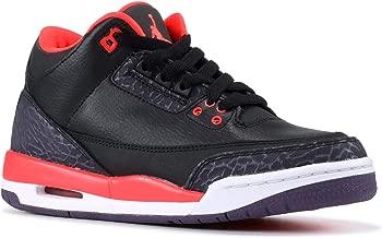 Jordan Kids 3 Retro Gradeschool Black Crimson 398614-005 7 - 7 M US Big Kid