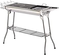 Charcoal Grill Kabob Grill Portable BBQ Grill Large Charcoal Grill for Outdoor Grilling Hibachi Grill Shish Kabob Portable...