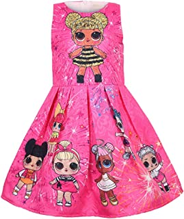 Girls Surprise Princess Dress up Doll Digital Print Party Gown Dress for Doll Surprised