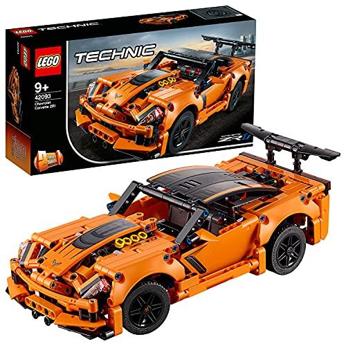 LEGO 42093 Technic Chevrolet Corvette ZR1, Modèle de Voiture Jouet Hot Rod 2 en 1, Collection de véhicules de Course