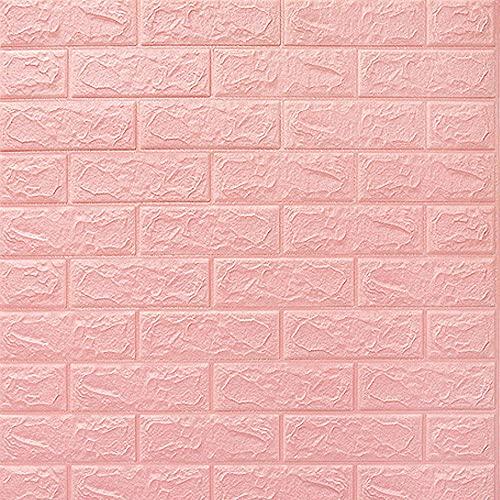 FTFTO Haushaltsgeräte 77 x 70 cm 3D Brick Selbstklebende Tapete Abnehmbarer PE-Schaum für die Küche Wohnzimmer Schlafzimmer Hintergrund Wohnkultur