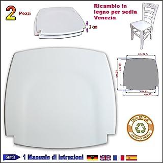 FACILCASA Asiento de repuesto de madera de haya blanca para silla Venezia Art 1021