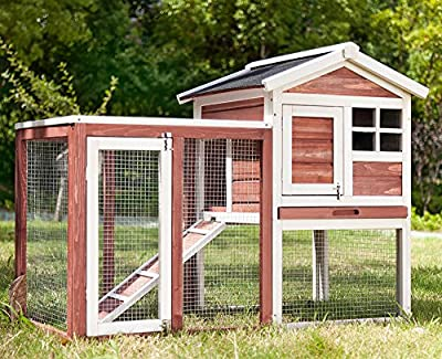 Wooden Rabbit/Guinea Pig Hutch Pet House Bunny Hutch House Chicken Coops Cages Rabbit Cage PURLOVE® from PURLOVE