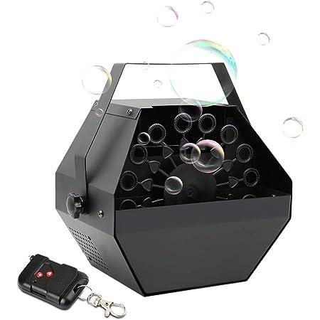 UKing Scène Machine à Bulles Machine a Bulle Enfant avec Télécommande,1L Capacité du réservoir,Large Production Bulles pour les Fêtes, Mariages, Scènes