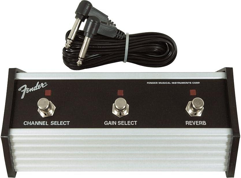 'Fender 099–4064–000de 3Button Pedal: Channel/Gain/reverb with 1/4jack