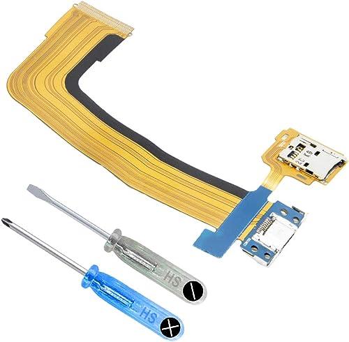 MMOBIEL Connecteurs Port Micro USB/Chargeur (Dock) Nappe/câble Flex et Port Carte SD Compatible avec Samsung Galaxy T...