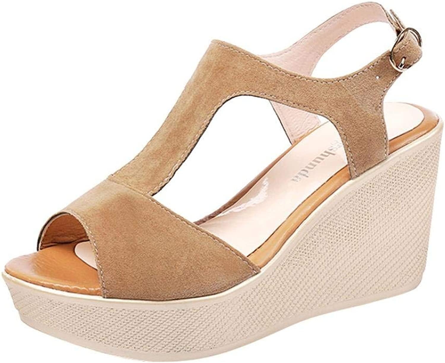 Lady Sandals Mode Kvinnor Sandaler sommar Boom skor skor skor Girlish Dinner Party Casual elegant Buckle Solid Färg Wild Hipster Middle Heel Sandaler  officiellt godkännande