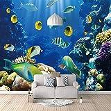 Mural 3D Acuario Marino No Tejido Foto Murales Decorativos Pared Moderna Póster Fotográfico Salón Infantil Dormitorio Decoración 400X280cm