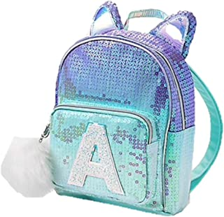 Justice Girls Initial Mini Backpack Sequin Ombre Cat (B)