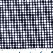 Robert Kaufman Kaufman 1/8in Carolina Gingham Black Fabric By The Yard