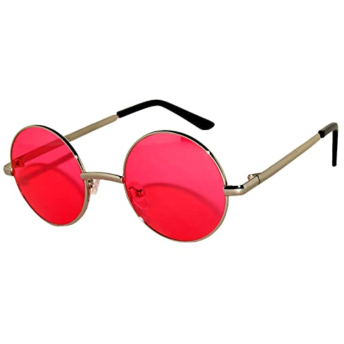 ed6974debbb Round Retro Vintage Circle Tint   Mirror Colored Lens 43-55 mm Sunglasses  Metal
