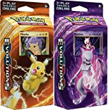 Pokemon TCG: XY Evolutions, 60 Card Theme Deck Featuring Either Pikachu Power Or Mewtwo Mayhem
