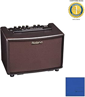 Roland AC-33RW 30-Watt 2x5-Inch Acoustic Chorus Guitar Amp Rosewood with Microfiber and 1 Year Everything Music Extended Warranty