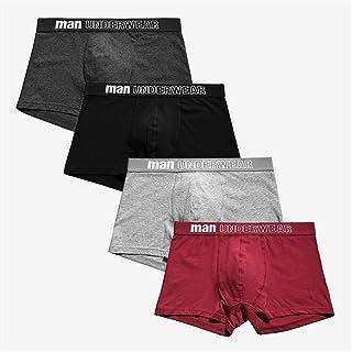 Men's underwear Men's Panties Boxer Men Underpants Men Underwear Male Men Cotton Boxer Shorts Solid Trunks chunjiao (Color : Champagne, Size : XXXL)