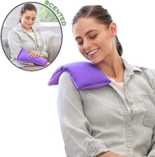 My Heating Pad Microwavable Hot Therapy Pack | Perfect Hot/Cold Herbal Aromatherapy Bag for Neck, Shoulders, Cramps, Stomach, Arthritis, and Headaches Relief | Weighted Heat Compress - Lavender Purple