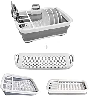 oxo tot space saving drying rack in grey