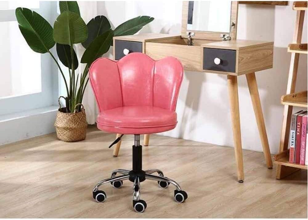 Chaise Pivotante Pour La Maison/Bureau Chaise D'ordinateur Relevable Couleur Fauteuil Simple Pour La Maison Sédentaire Tabouret De Pansement (Color : Brown) Pink