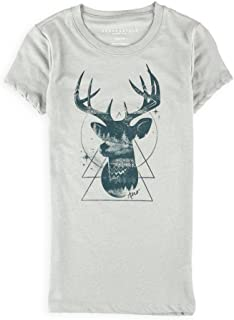 AEROPOSTALE Womens Filled Buck Graphic T-Shirt