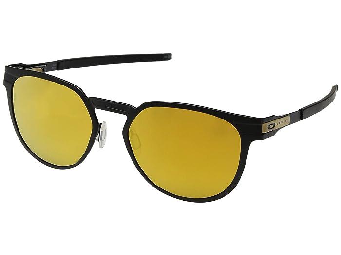 Oakley Diecutter (Satin Black/24K Iridium) Sport Sunglasses