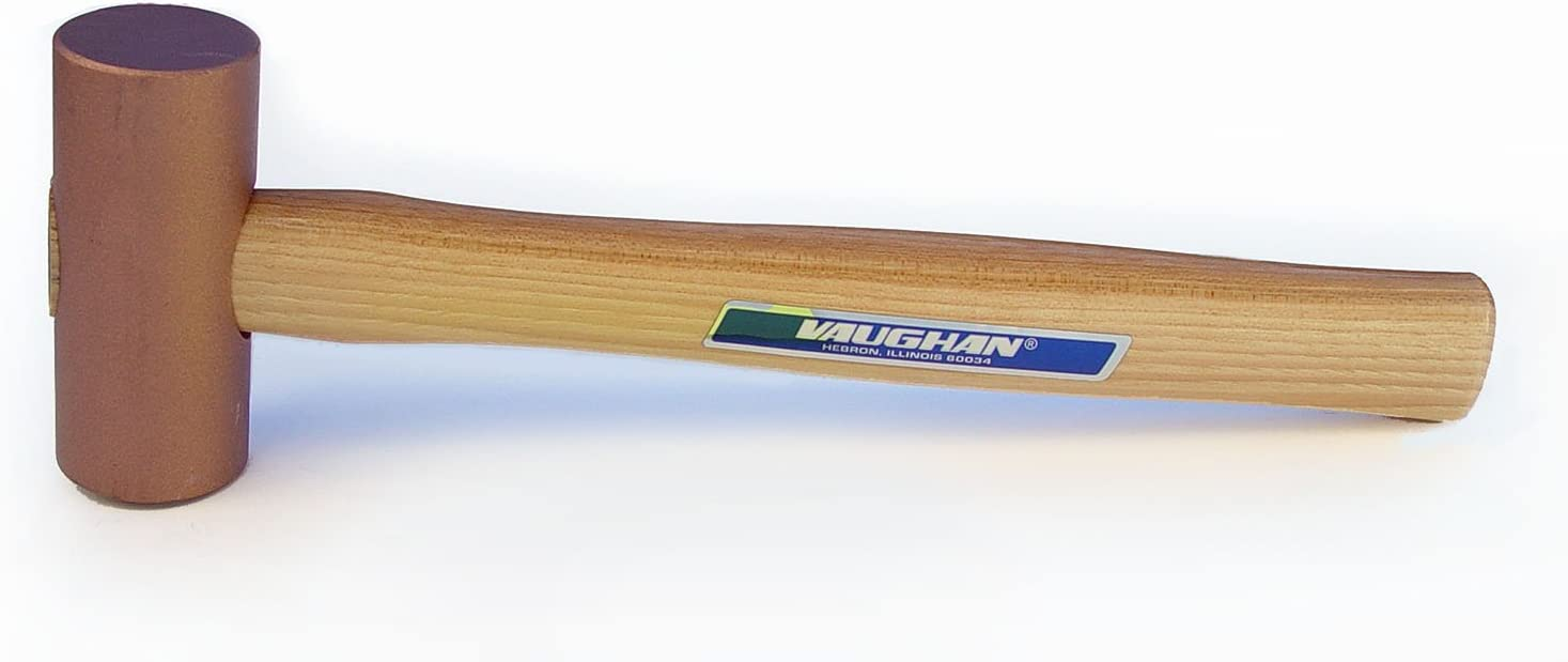 Vaughan 592-12 CM150 Solid Copper Mallet with 1-1/2-Inch Face Di