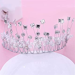FELICILII Accessori for Capelli da Sposa con Corona in Cristallo Fatto a Mano con Diamanti a Forma di diadema da Sposa