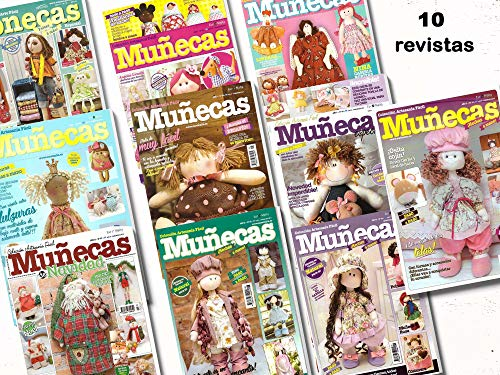 Euro Malta Pack Oferta 10 revistas de Muñecas de Tela + 1 Tela 50 * 50cm de Regalo (10)