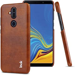 IMAK Ruiyi Series Leather coated case cover for Nokia 8.1 - Brown.