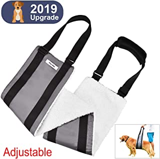 Fine-Pets Dog Sling - Lift Support Harness for Rear Legs - Lift Dog Back Legs for Medium Breed Dogs - Adjustable Handles and Padded Soft for-Elderly,Disabled,Injuired,Weak Hind,Surgery