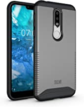 TUDIA Merge Nokia 7.1 Case with Heavy Duty Extreme Protection/Rugged but Slim Dual Layer Shock Absorption Case for Nokia 7.1 (2018) [NOT Compatible with Nokia 6.1] (Metallic Slate)
