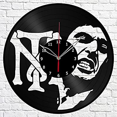 Scarface Tony Montana Vinyl Record Wall Clock Fan Art Handmade Decor Original Gift Unique Decorative Vinyl
