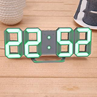 3D Digital Alarm Clock - 8 Shape Led Table Clock Digital Alarm Clock for Child's Gift Modern Home Decor 3D Digital Led Wall Clock with USB Charge Cable