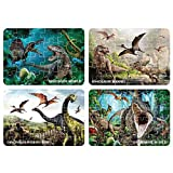 Puzzles for Kids Aged 3-5, 4 Pack Jigsaw Floor Dinosaur Puzzle, Preschool Educational Learning Toys,Realistic Dino World Game Animal Toys&Gift Box, Every Pieces Fit Together Perfectly