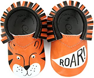 Tiger Moccasin 100% American Leather Moccasins for Babies & Toddlers Made in US
